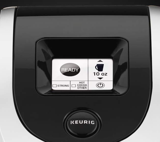 keurig black and white lcd